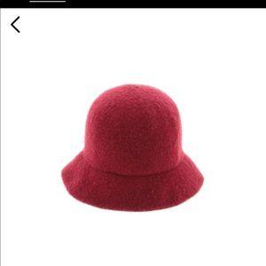 J. crew Winter hat red wool blend